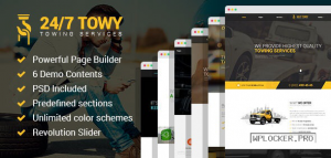 Towy v1.5 – Emergency Auto Towing and Roadside Assistance Service WordPress theme