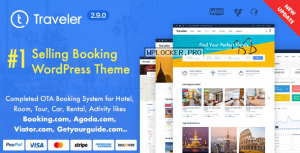 Traveler v2.9.0 – Travel Booking WordPress Theme