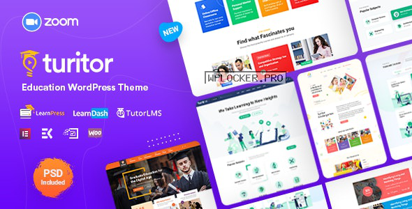 Turitor v1.3.0 – LMS & Education WordPress Theme