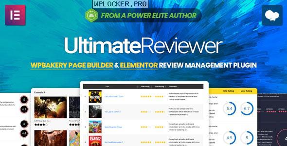 Ultimate Reviewer v2.8 – Elementor & WPBakery Page Builder Addon