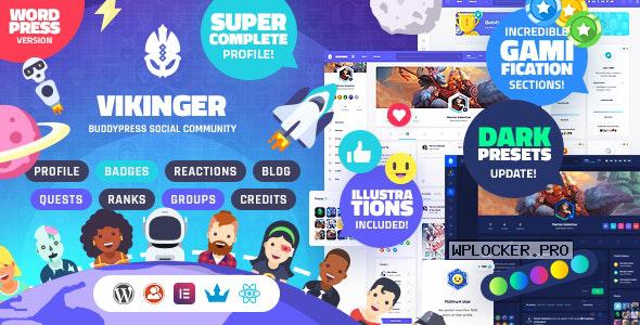 Vikinger v1.1.0 – BuddyPress and GamiPress Social Community