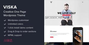 Viska v1.9.1 – Creative One Page WordPress Theme