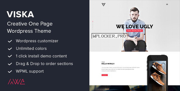 Viska v1.9.1 – Creative One Page WordPress Theme