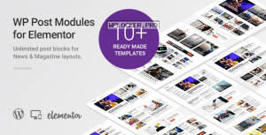 WP Post Modules for NewsPaper and Magazine Layouts (Elementor Addon) v1.8.0
