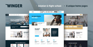 Winger v1.0.2 – Aviation & Flight School WordPress Theme