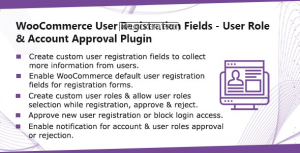 WooCommerce User Registration Plugin v1.0.7 – Custom Fields, validate login & customer roles