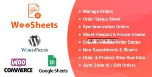 WooSheets v4.7 – Manage WooCommerce Orders with Google Spreadsheet