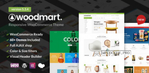 WoodMart v5.3.4 – Responsive WooCommerce WordPress Theme
