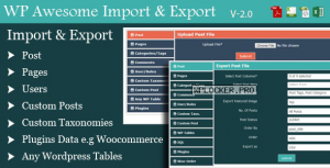 WordPress Awesome Import & Export Plugin v3.4.1