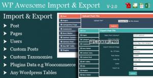 WordPress Awesome Import & Export Plugin v3.4.1