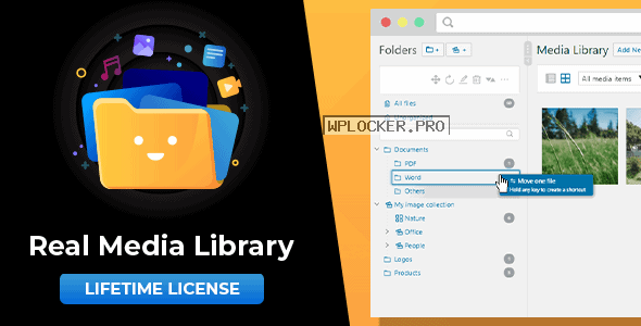 WordPress Real Media Library v4.10.1 – Folder & File Manager for WordPress Media Management