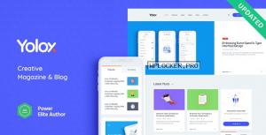Yolox v1.0.5 – Modern WordPress Blog Theme for Business & Startup