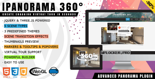 iPanorama 360° v1.6.5 – Virtual Tour Builder for WordPress