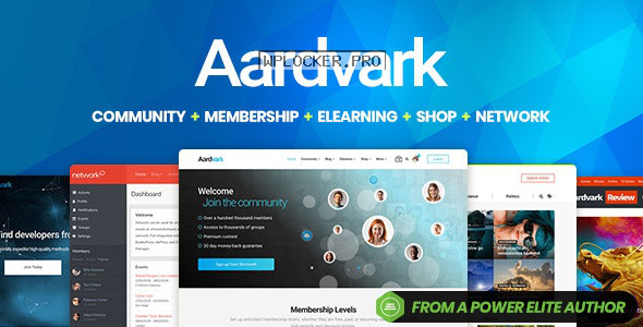 Aardvark v4.29 – Community, Membership, BuddyPress Theme