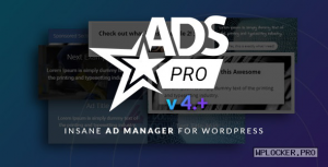 Ads Pro Plugin v4.3.9.5 – Multi-Purpose Advertising Manager