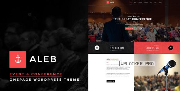 Aleb v1.3.4 – Event Conference Onepage WordPress Theme