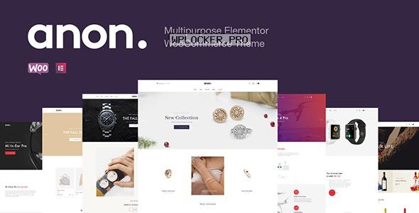 Anon v1.7.3 – Multipurpose Elementor WooCommerce Theme