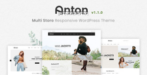Anton v1.1.0 – Multi Store Responsive WordPress Theme
