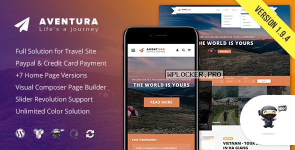 Aventura v1.9.4 – Travel & Tour Booking System Theme