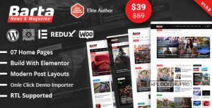 Barta v1.11 – News & Magazine WordPress Theme