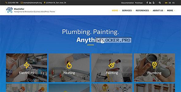 BlueCollar v2.5.9 – Handyman & Renovation Business WordPress Theme