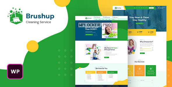 Brushup v1.0 – Cleaning Service Company WordPress Theme