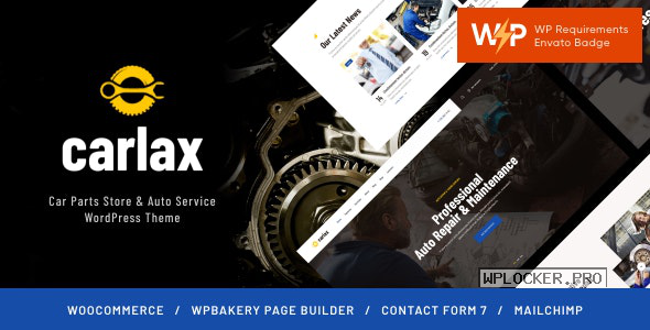 Carlax v1.0.4 – Car Parts Store & Auto Service Theme
