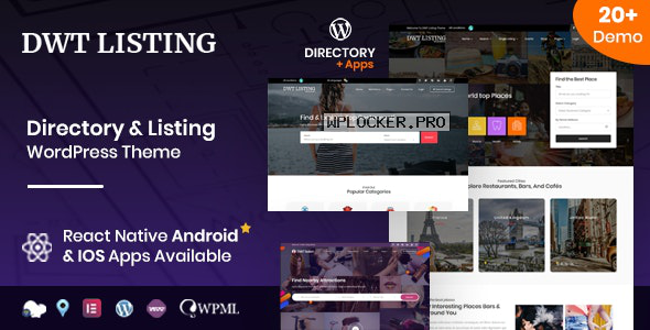 DWT v3.1.6 – Directory & Listing WordPress Theme