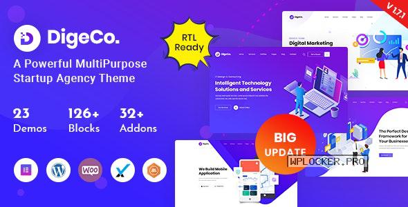 Digeco v1.7.1 – Startup Agency WordPress Theme