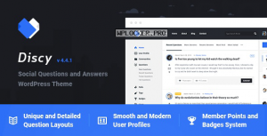 Discy v4.4.1 – Social Questions and Answers WordPress Theme