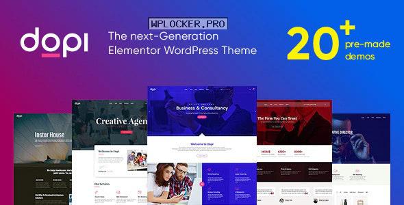 Dopi v1.2.2 – Elementor MultiPurpose WordPress Theme