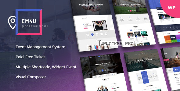 EM4U v1.3.9 – Events WordPress Theme for Booking Tickets