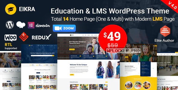 Eikra Education v4.2 – Education WordPress Theme