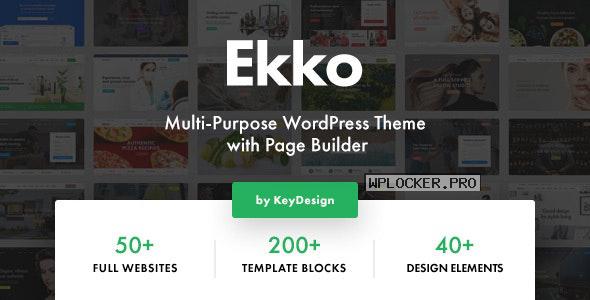 Ekko v2.4 – Multi-Purpose WordPress Theme with Page Builder