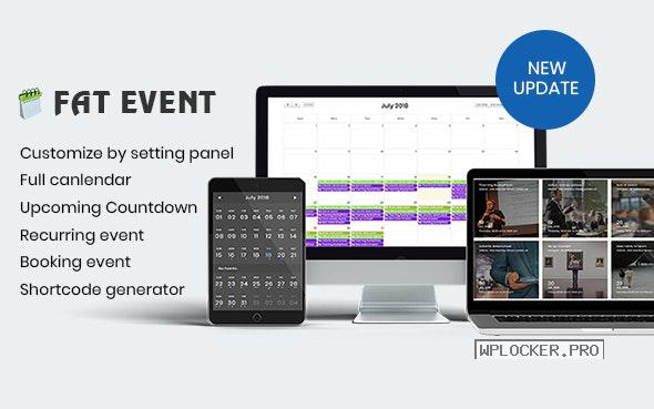 FAT Event v4.5.0 – WordPress Event and Calendar Booking