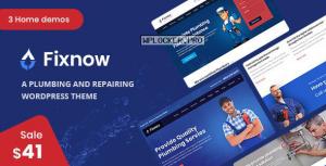 Fixnow v1.8 – A Perfect Plumbing WordPress Theme