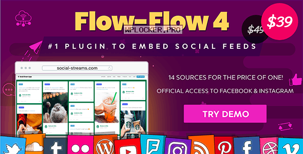 Flow-Flow v4.7.0 – WordPress Social Stream Plugin