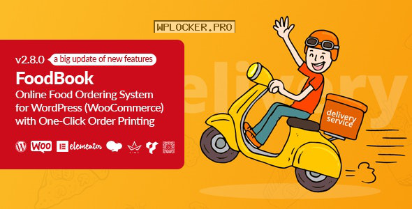 FoodBook v2.8.0 – Online Food Ordering System for WordPress with One-Click Order Printing