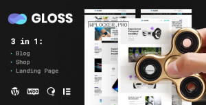 Gloss v1.0.2 – Viral News Magazine WordPress Blog Theme + Shop
