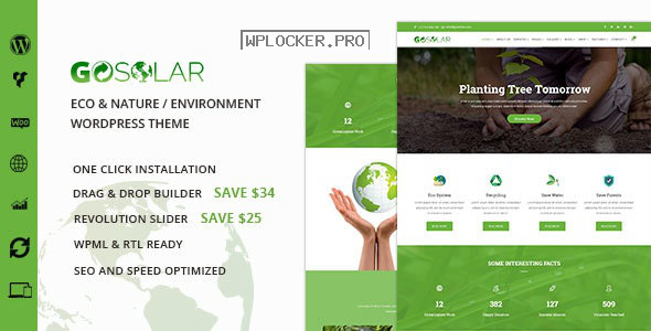 GoSolar v1.2.5 – Eco Environmental & Nature WordPress Theme
