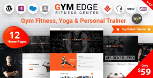 Gym Edge v4.2.1 – Gym Fitness WordPress Theme