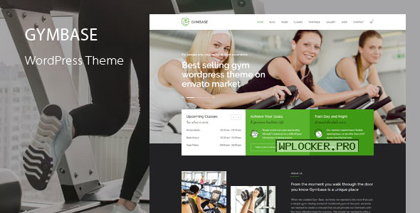GymBase v14.1 – Responsive Gym Fitness WordPress Theme