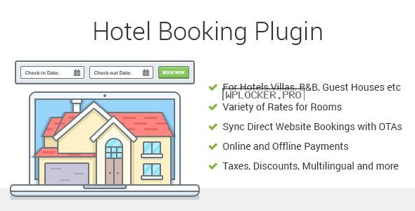 Hotel Booking v3.9.1 – Property Rental WordPress Plugin
