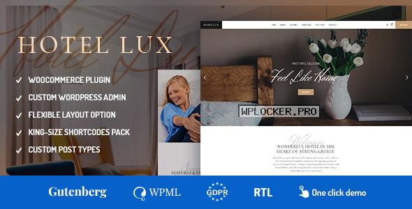 Hotel Lux v1.1.6 – Resort & Hotel WordPress Theme
