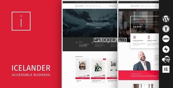 Icelander v1.5.6 – Accessible Business Portfolio & WooCommerce WordPress Theme