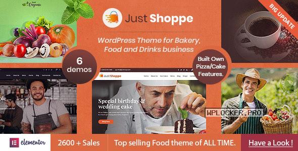 Justshoppe v11.2 – Elementor Cake Bakery WordPress Theme