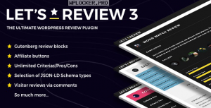 Let's Review v3.2.8 – WordPress Plugin With Affiliate Options