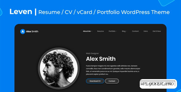 Leven v1.5.3 – CV/Resume Theme