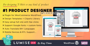 Lumise Product Designer v1.9.8 – WooCommerce WordPress