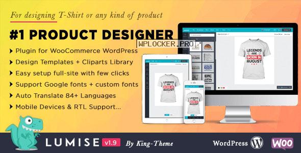Lumise Product Designer v1.9.8 – WooCommerce WordPress